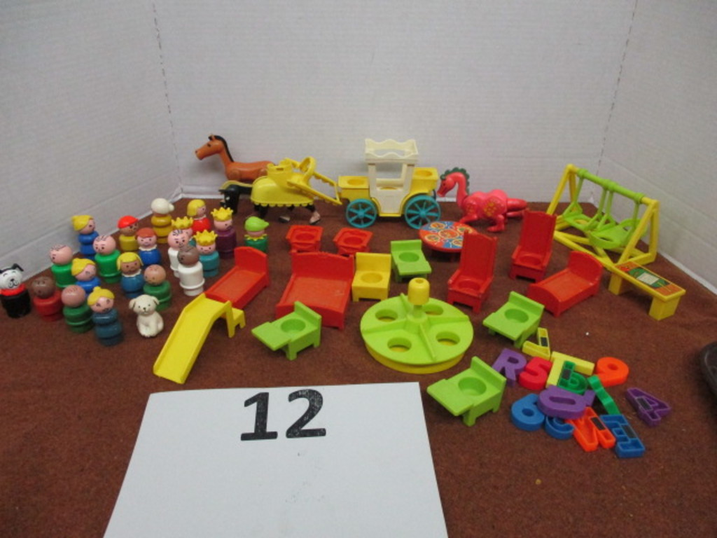 large lot of vintage fisher price