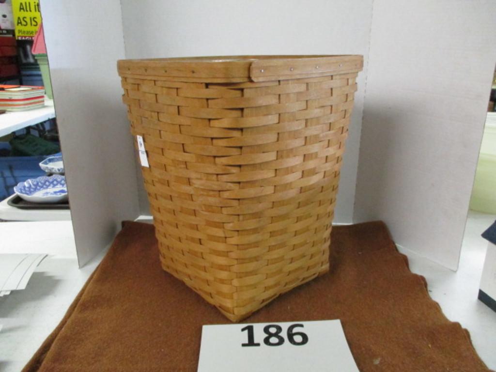 Longaberger waste basket/trappers basket