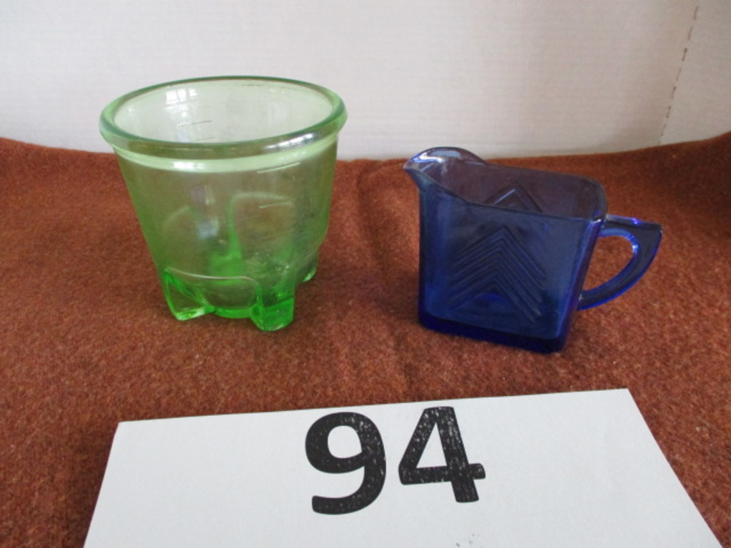 depression glass green measuring cup