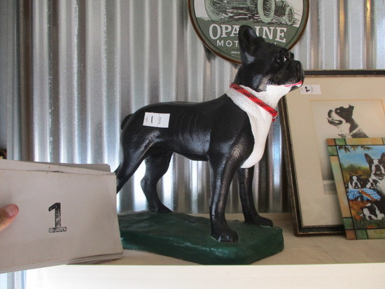 Cast Concrete boston terrier