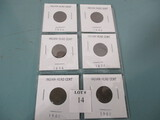 Lot of 6 Indian Head Cents
