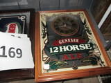 Genesee R Horse mirror clock