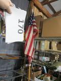 10' 2 piece US Flag pole