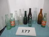 lot of vintage bottle