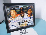 Duke Snider, Willie Mays, Mickey Mantle signed photo