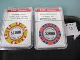 $6000 Monte Carlo Casino chips