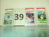Lot of 3 Baseball cards
