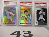 Lot of 3 football cards