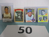 Lot of 4 vintage baseball cards