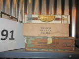 lot of 3 cigar boxes