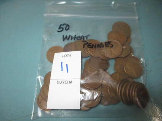 50 wheat pennies