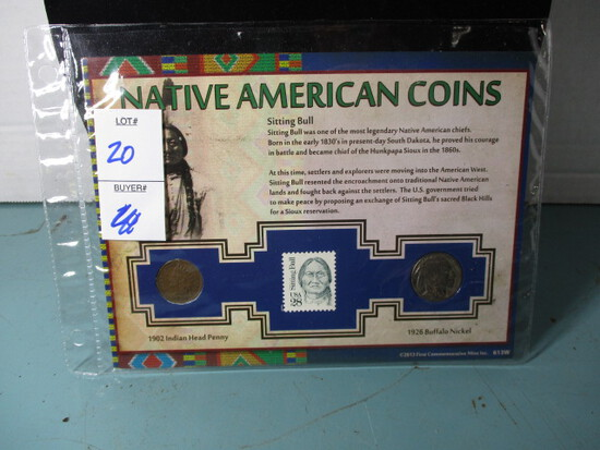 Native American coins set