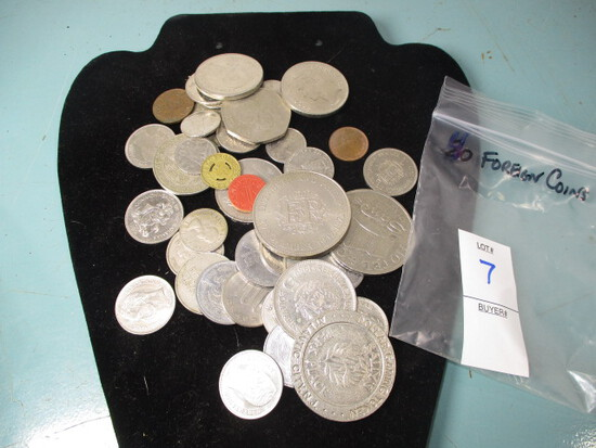Lot of 40 Foreign coins