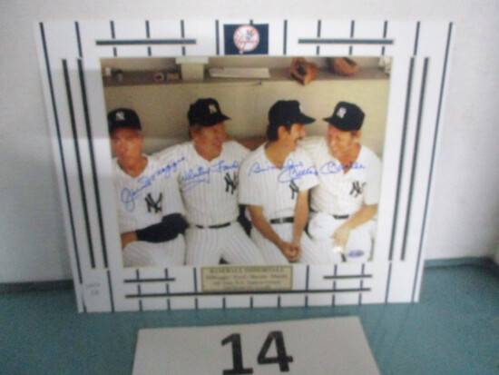 Joe Dimaggio, Mickey Mantle, Whitey Ford, Billy Martin