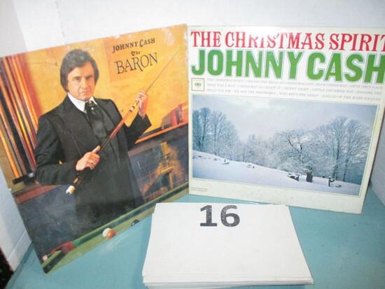 Lot of 2 Johnny Cash Lps