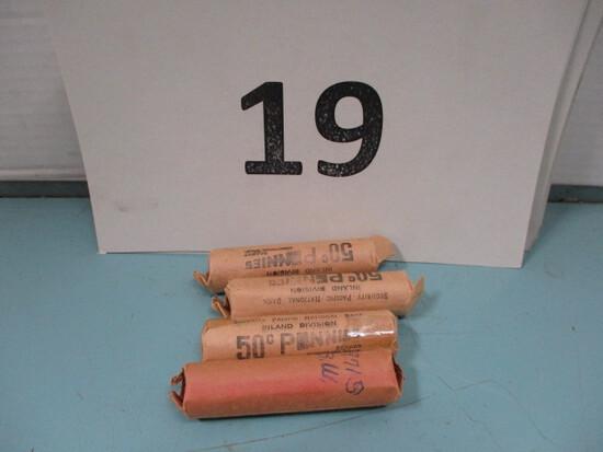 4 Rolls 1971 S pennies UNC