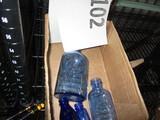 Lot of 4 blue bottles