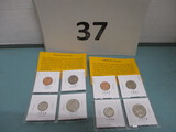 Lot of 8 proof coins