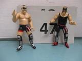 WWF 2000 Hawk & Animal wrestling figurines
