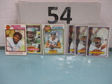Topps football card lot of 6