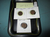 Lot of 2- 1909 VDB Pennies w/ 1889 Indian head cent
