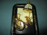 Lot of 2 new pocket watches w/ chain