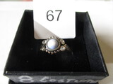 costume ring with blue stone