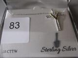 Sterling Silver necklace w/ cross