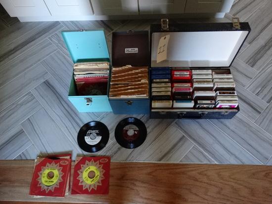 2 boxes Vintage 45's