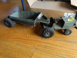 Vintage toy truck with earth mover