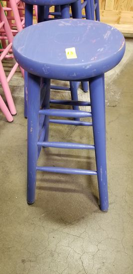 Stool (painted purple)