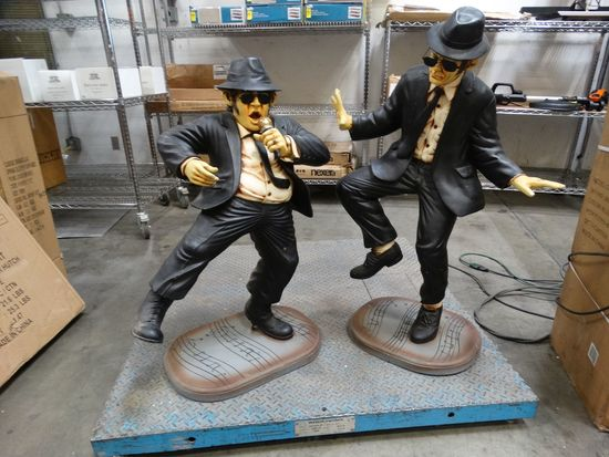 BLUES BROTHERS STATUES Elwood and Jake