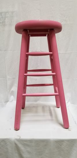 Stool (painted pink)