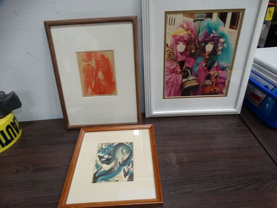 3 prints As a Mixed Lot