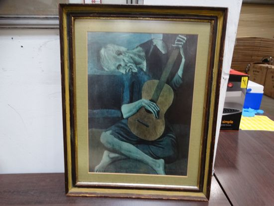"""The Old Blue Guitarist"" print (Pablo Picasso)"