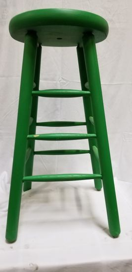 Stool (painted green)