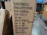 Classic Brand Spring Sleeper Sofa, Twin