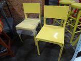 Metal side chair (yellow)