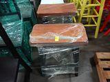 (2) Latte wood stools