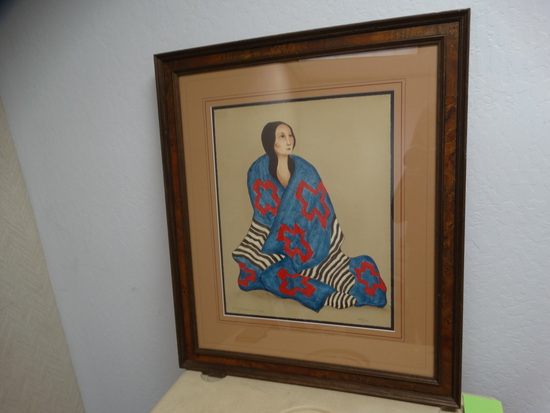 1980 R.C. Gorman Framed Lithograph