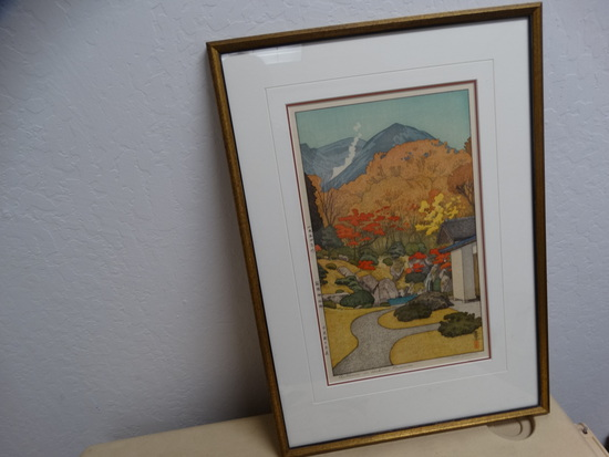 AUTUMN  in Hakone Museum Wood Block Print