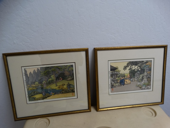 (2) TOSHI YOSHIDA Japanese Wood Block Prints