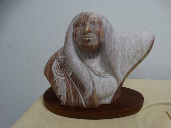 Alabaster Statue of American Indian Woman