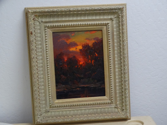 "Original Oil ""Sunset By The River"""