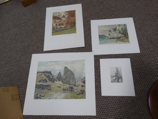 (4) Josef Eidenberger Color Etchings