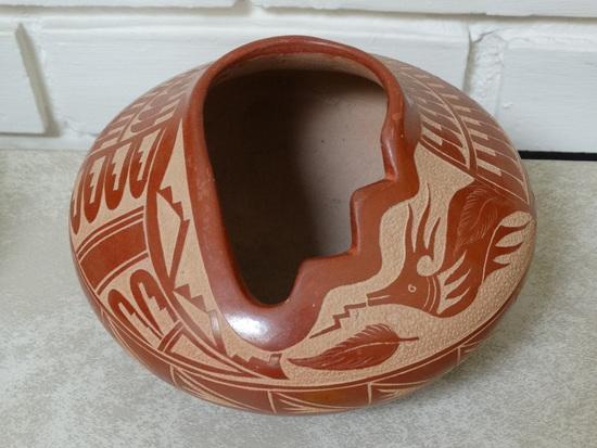 Jemez  Sgraffito Pot  w/ Water Serpent
