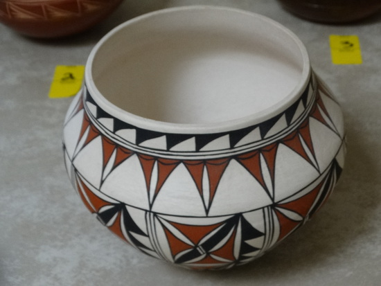 Acoma Greenware Polychrome Pot
