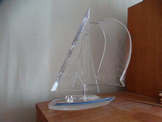 Acrylic Style Sailboat