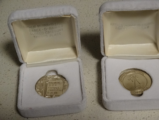 2 Arthur Murry Studio Award Coins