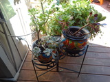 Metal planter stand with room for 3 tiers